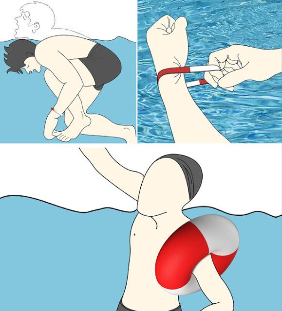 Self Rescue Bracelet, Gelang Penyelamat Ketika Akan Tenggelam