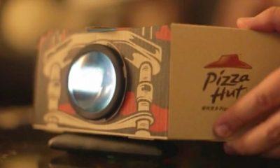 Wow! Kotak Pizza Dapat Berubah Menjadi Proyektor Film