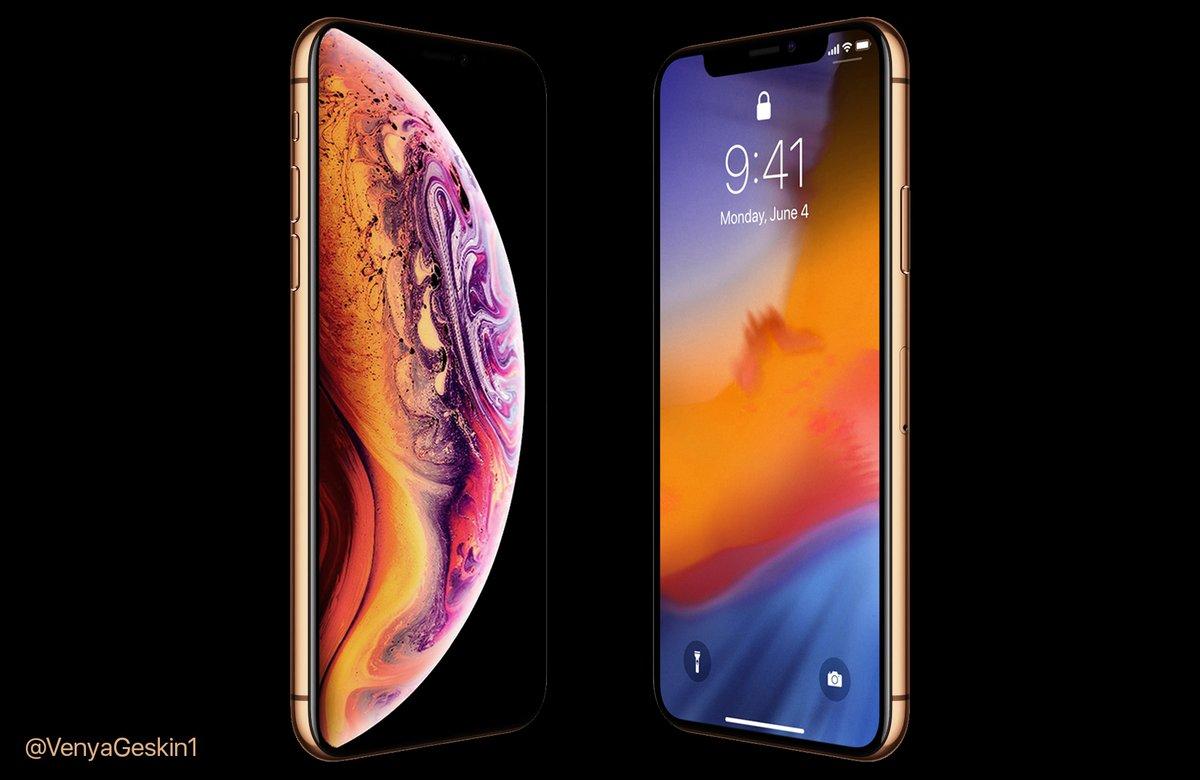 Bocoran Penampakan Render Terbaru iPhone XS Warna Gold
